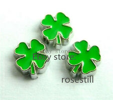 10pcs clover Floating Charms Fits For Glass Living Memory Locket FC101