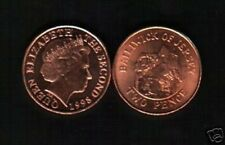 JERSEY 2 PENCE KM104 1998 QUEEN L'HERMITAGE UNC CURRENCY COIN LOT 100 PCS
