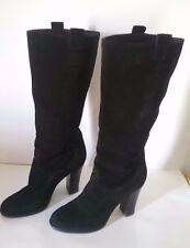 "BOUTIQUE 9 ""Belinda"" Women's Black Leather Suede Mid-Calf Boots  Size 8.5 M"