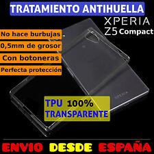 FUNDA TPU DE GEL SILICONA TRANSPARENTE PARA SONY XPERIA Z5 COMPACT MINI CARCASA