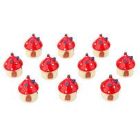 1 PZ Micro FUNGO resina artigianale mini PAESAGGIO house doll house FAIRY GARDEN