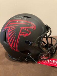 Calvin Ridley Full Size Authentic Speed Eclipse Autographed Helmet - JSA Cert