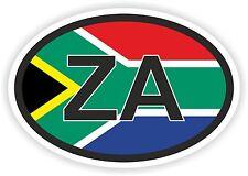 ZA South Africa Country Code Flag Sticker Helmet Car Truck Skateboard Fridge