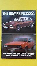 Princess 2 L HL HLS 1700 2200 brochure catalogue 1978 Austin Morris Leyland
