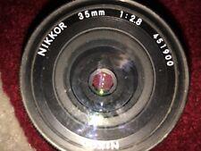 Nikon Nikkor 35 mm F/1:2.8 Lens