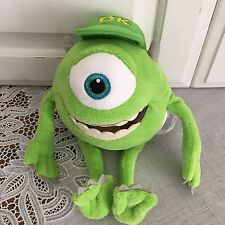 "Monsters Inc Mike Wazowski One Eyed Monster Disney Pixar Movie Plush 9"" Lovey"