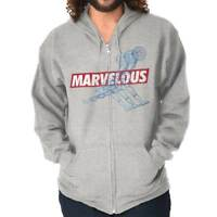 Marvelous Funny Sports Athletic Comic Book Zip Up Hooded Sweatshirts For Men