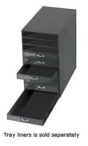 10-Drawer Jewelry Storage Organizer in Black finish