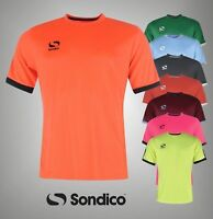 Mens Sondico Short Sleeves Training T Shirt Football Top Sizes S-4XL
