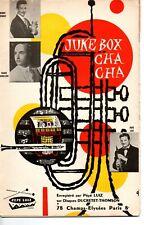 Partition 1960 Accordéon piano basse 8 cuivres - 2 cha-cha-cha de Pépé LUIZ