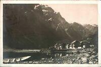 Antique RPPC photograph postcard Norge Gudvangen Naerofjord Norway