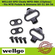 Wellgo WPD-98A SPD Shoe Adapter Cleats Clipless fit Shimano SH-51 & 56 MTB Pedal