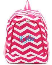 Free Monogram Name Pink CHEVRON LARGE SCHOOL BOOK BAG BACKPACK!