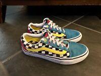 VANS Athletic Skate Shoes Skateboard Sneakers Checkered 80s Men's Sz 6 WO 7.5