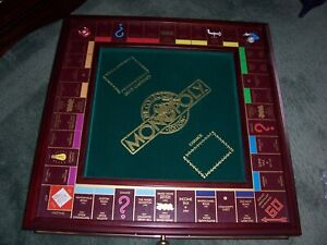 FRANKLIN MINT DELUXE WOODEN MONOPOLY BOARD GAME COLLECTORS EDITION 1991