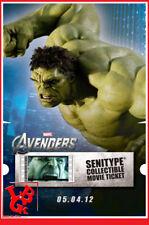 HULK AVENGERS SENITYPE Movie Ticket Pellicule Film 2000ex Collector # NEUF #
