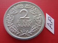 Weimar 2 Reichsmark 1931 D J.320 hübsch / Weimarer Republik Silber Kursmünze