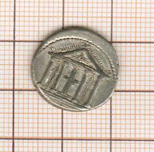 Republic Roman Volteia 78 Av Jc Denier IN The Temple Pretty Quality