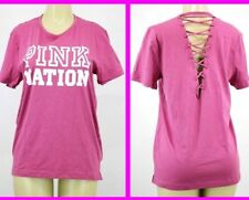 Victoria's Secret PINK GRAPHIC SHORT SLEEVE SHIRT NWT XSMALL +E609