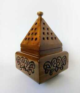 Handmade Wooden Box Pyramid Mabkhara Incense Burner (Charcoal) - AU Seller