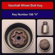 """Genuine Vauxhall Locking Wheel Bolt / Nut Key 198 """"V"""""""