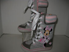 Minnie toddler girls size 5 gray /pink high top sneakers