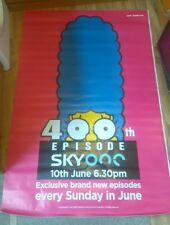 Sky One THE SIMPSONS 400 EPISODE (HUGE Bus Shelter Underground Poster  4ft x 6ft