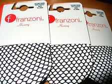 3 paia calzino FRANZONI elasticizzato RETE PICCOLA colore nero Taglia unica