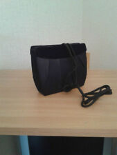 LADIES BLACK SATIN EVENING BAG