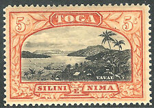 Tonga 1897 black/red-brown 5/- upright watermark mint SG53