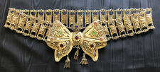 Late19th / Early 20th Century Guilt Metal Filigree Belt