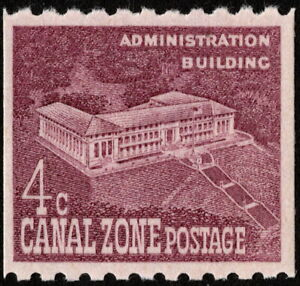 Canal Zone - 1960 - 4 Cents Dull Rose Violet Administration Building 154 Mint NH