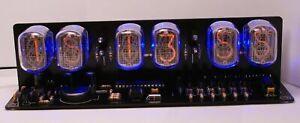 Nixie Tube clock KIT IN-12 Six Digit Tubes Date Temperature Black