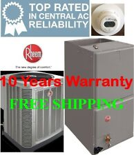 3 Ton  14SEER Rheem Heat Pump System Condensing Unit / Air Handler with Coil