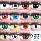 Farbige Kontaktlinsen MIT / OHNE Stärke Crazy Halloween Vampir Zombie Rot Weiß
