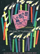 PUBLICITE ALSA LEVURE ALSACIENNE GATEAUX BOUGIES SIGNE ERIC DE 1960 FRENCH AD