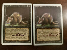 Plague Rats X1 Revised Ed Signed by Anson Maddocks Magic the Gathering