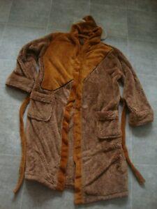 Star Wars Men's Ewok Hooded Bathrobe Cloak Dressing Gown NICE Condition