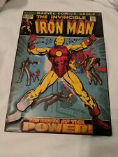 "Retro The Invincible Iron Man Comic Cover Metal Tin Sign. 9"" X 13""."