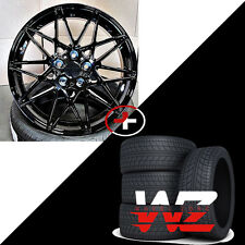 19 inch Wheels w Tires Gloss Black Fits Newer BMW 328 435 530 535 545 645 750