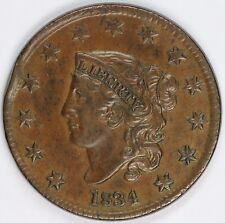 1834 1c Coronet or Matron Head UNSLABBED