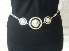New Lion Chain Belt Women's Silver Plated Chain 40""