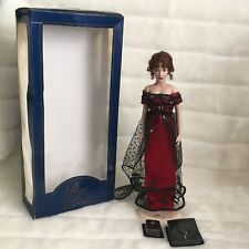 "Franklin Mint TITANIC Rose 16"" Vinyl Doll Complete Set W/ Stand & Accessories"