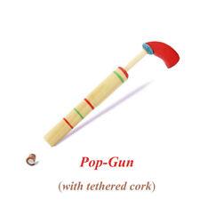 Sound Great Surprise Wooden Toy Pulling & Pushing Cork Pop Gun Classic Game