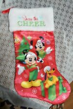 """MICKEY MOUSE & MINNIE CHRISTMAS STOCKING 18""""-Share the Cheer"""