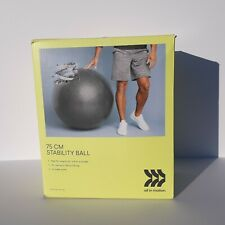 75CM Stability Ball & Pump - Home Gym Exercise Workout