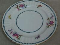 """Vtg Gold-Rimmed Royal Worcester Cordelia Pattern China Dinner Plate (10 5/8"""")"""