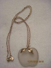 Vintage Avon CRYSTAL APPLE PENDANT Necklace...1978..#598