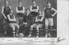 Americus Basket Ball Team [Basketball] Nanticoke PA used 1906 pub by Scureman's
