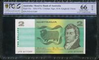 Australia 1979 $2 Banknote Knight/Stone - PCGS 66 Gem UNC OPQ